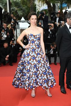"Rebecca Hall in Dior Haute Couture attending the ""BFG"" premiere at the 2016 Cannes Film Festival"
