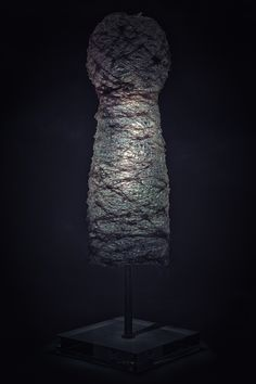 Led Lamp with textile yarn and resin