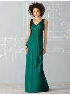 Sheath Straps Sleeveless Ruching/Draping Empire Floor-length Elastic Celebrity Dresses WE0960