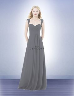Color is Pewter - Bridesmaid Dress Style 485 - Bridesmaid Dresses by Bill Levkoff
