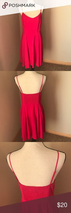 NWT OLD NAVY FUCHSIA DRESS Brand new with tags! Old Navy fuchsia dress. Adjustable straps. Size zip. Stretchy in the back. Bundle & save! Length is 36 inches. Old Navy Dresses Midi