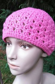 Amazing Grace Hat- Free Pattern in honor of Breast Cancer Awareness