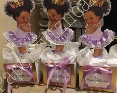 Baby girl afro puff tutu centerpiece, baby shower, birthday party, royal baby princess party,table decorations, events , african american