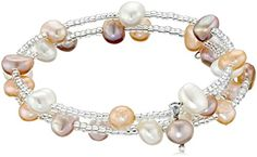 Bella Pearl MultiRow Triple Bangle Bracelet -- You can get additional details at the image link.