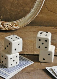 Vintage 1930s Lucky Dice Salt and Pepper Shakers by MarryTheSky, $17.00