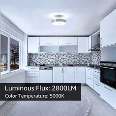 LED Ceiling Lights Flush Mount Brilliant Light with 2800 Lumens Waterproof – onforuleds Kitchen Ceiling Lights, Led Ceiling Lights, Aluminum Rims, Indoor Swimming Pools, Luminous Flux, Incandescent Bulbs, Light Colors, Beams, Kitchen Cabinets