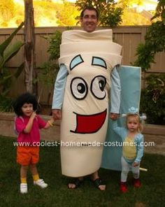 This family went as the characters from Dora the Explorer! That is one cool Map costume!
