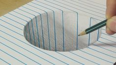 Drawing a Round Hole on Line Paper - Trick Art with Graphite Pencil for ...