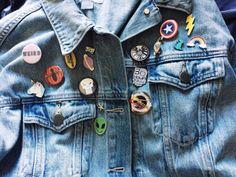 pins galore! gotta love that Jean Jacket Aesthetic™
