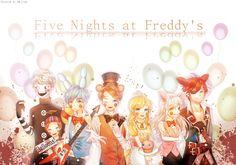 FNaF sister location - Custom Night by HMLime on DeviantArt Five Nights At Freddy's, Fnaf Golden Freddy, Freddy 's, Fnaf Drawings, Cute Drawings, Animatronic Fnaf, Pole Bear, Fnaf Night Guards, Fnaf Sl