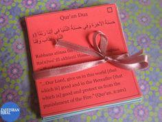 Make Pocket-Size Qur'an Du`a Cards [Ramadan Journal]   Zaufishan