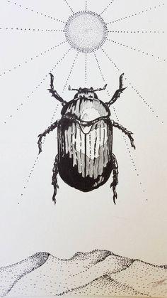 Beetle Print Scarab Print Scarab Beetle Print Scarab Beetle Art Egypt Art Home Decor Insect Study Totem Art Totem Drawing Insect Art Insect Print Insect Drawing Scarab Beetle