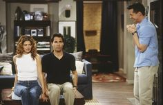 Debra Messing, Eric McCormack and Sean Hayes in a scene from Will & Grace. | Great article about how to reduce prejudice.