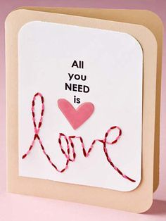 Holiday Card - Valentine's Day Card Designs - Free Paper Craft Pattern -- Love Card