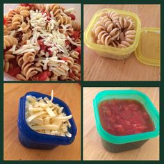 21 Day Fix Meals : Whole Wheat Pasta = 2 Yellow Tomatoes with spices = 1 Green Pepper Jack Cheese = 1 Blue