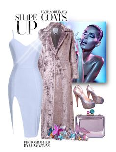 """""""Untitled #140"""" by jaymagic ❤ liked on Polyvore featuring Rosie Assoulin, Giuseppe Zanotti, Sophia Webster and fauxfurcoat"""