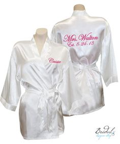 Customized Mrs. Satin Robes with by BridalLingerieShop on Etsy, $48.00