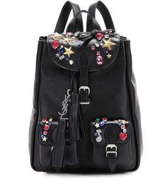 dade59abaeb4 Embellished Leather Backpack by Saint Laurent