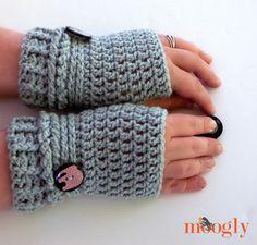 Ups and Downs Crochet Fingerless Gloves