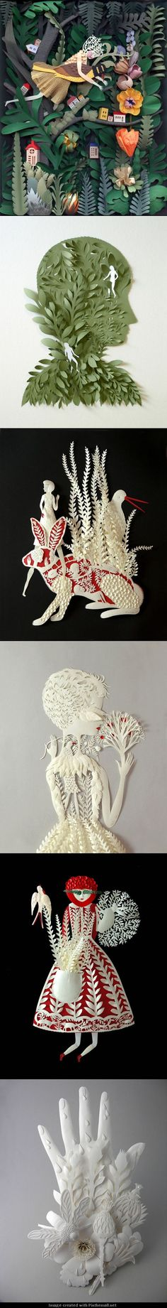 Cut Paper Sculptures and Illustrations by Elsa Mora Paper Clay Art, Paper Artwork, Paper Crafts, Cut Paper, Paper Cutting, Illustrations, Illustration Art, Sculpture Art, Paper Sculptures
