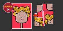 Rompecabezas de 4 piezas para niños online y gratis. Nena