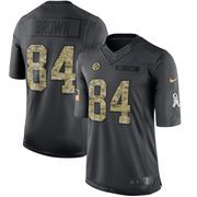 Men's Pittsburgh Steelers Antonio Brown Nike Black 2016 Salute to Service Jersey