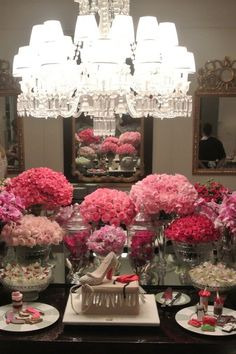 flower, sweets and chandelier