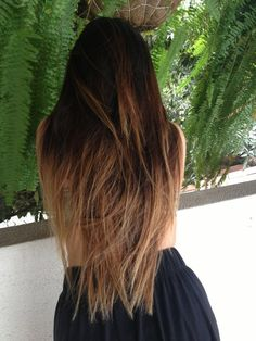Love the Dark Brown on top, with the light blonde underneath.