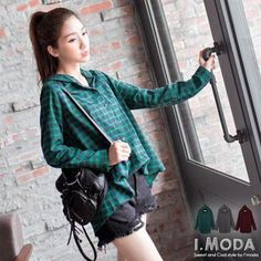 Buy 'OrangeBear – Plaid Hooded Shirt' with Free Shipping at YesStyle.com.au. Browse and shop for thousands of Asian fashion items from Taiwan and more!