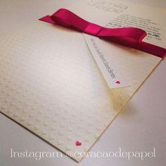 Convite de Casamento - Coração de Papel