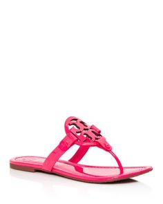 a673e32fdaac66 Tory Burch Miller Patent Leather Thong Sandals Shoes - Bloomingdale s