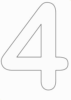 Number 4 Coloring Pages Preschool Free Printable