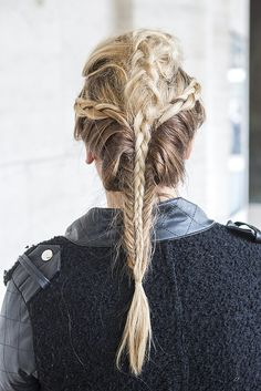 Braids on braids on braids. Beauty Street Style // New York Fashion Week Fall 2015