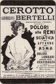 Cerotto Bertelli - Meraviglioso rimedio contro i dolori alle reni, sciatica, affanno, asma, dolori lombari prodotti dalla gravidanza