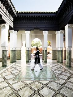 Interior of the La Mamounia Hotel, Marrakech, Morocco