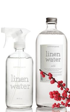 Glass linen water + refill duo – common good