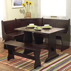 Amish Breakfast Nook Set In Solid Wood 2018 Customer Service S Favorite Furniture Pinterest And Dining