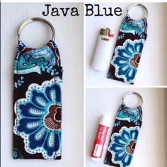"Made in Vera Bradley Print Chapstick Keychain NWOT Made in new Vera Bradley Print Chapstick Keychain Java Blue Chapstick Keychain~Fits Mini Bic Lighters~and Flash Drives Size 4"" x 1  1/2"" Smoke Free Home Chapstick/Lighter NOT Included ✨Pattern placement varies✨ All Keychains are made with high quality material from a smoke free home 100% Vera Bradley Fabric Interface Metal Keyring Made in Vera Bradley Accessories Key & Card Holders"