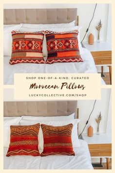 Curated, handpicked kilim pillows right from Morocco. Shop now! Lucky Collective Textiles. #LuckyCollective Wool Pillows, Bed Pillows, Orange Throw Pillows, Classic Living Room, Hearth And Home, Pillow Room, Silk Pillow, Floor Cushions, Morocco