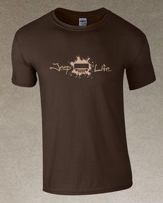 Jeep Life TJ/CJ Men's T-Shirt - Brown – It's a Jeep Shirt! #itsajeepshirt