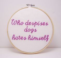Dog lovers gift purple Completed Cross by MeandMamaCreations Gifts For Pet Lovers, Gifts For Mom, Dog Lovers, Great Gifts, Wooden Hoop, Pet Puppy, Animal Quotes, Puppy Love, Cross Stitch