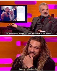 "4,739 Likes, 65 Comments - Game Of Thrones Memes (@memesofgameofthrones) on Instagram: ""Jason Momoa talking about Emilia Clarke on the Graham Norton Show! - - -…"""