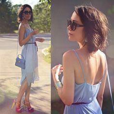 Kenzo Sunnies, Furla Candy Bag, New Look Dress