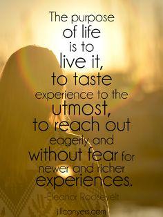 Purpose of life. jillconyers.com #quote #lifehacks #happiness #wellness #inspiration @jillconyers