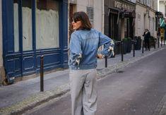 Blogueuse mode bordeaux - veste denim et laçages
