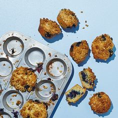 Gluten-Free Blueberry Muffins with Oat Crumble Recipe - Bon Appétit