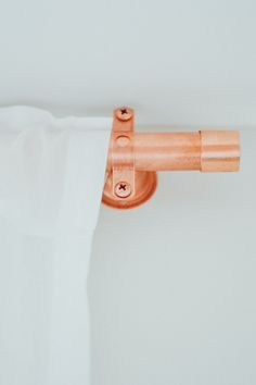 DIY Copper Curtain Rods For 30