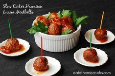 Slow Cooker Hawaiian Luau Meatballs