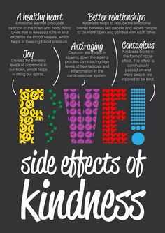 Kindness side-effects: healthier heart, more joy, anti-ageing, better relationships & it's contagious too! @BeKindPpl