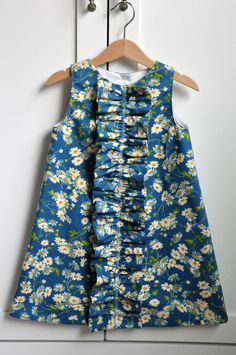 Dress Pattern: Girls Ruffled Chemise (PDF, e-pattern) $6